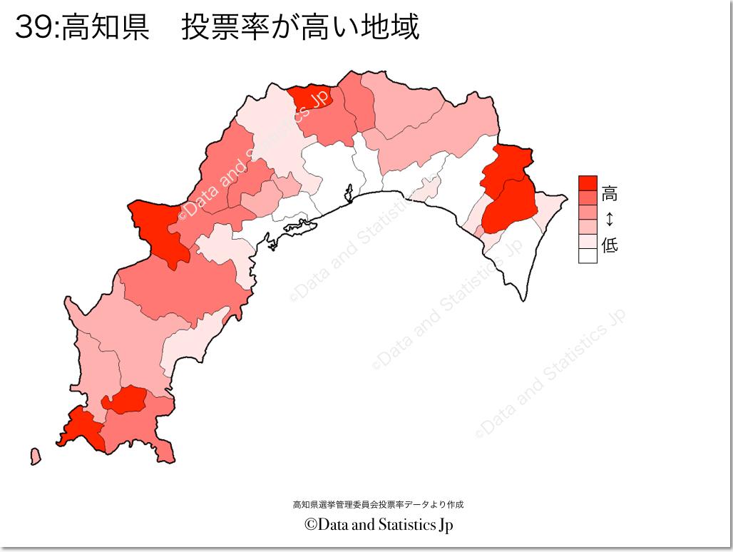 39高知県投票率